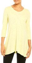 Eileen Fisher V-Neck Slub Knit Tunic