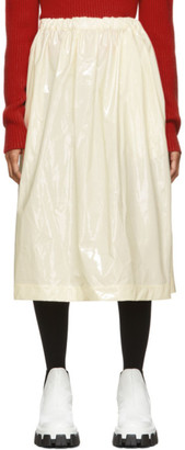 Plan C Off-White Drawstring Balloon Skirt