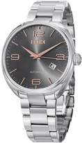 Fendi Mens F201016200 Fendimatic Black Dial Stainless Steel Automatic Watch