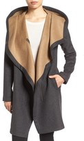 Vince Camuto Women's Double Face Hooded Drape Coat