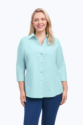 Foxcroft Women's Plus-Size Non-Iron Essential Paige Shirt