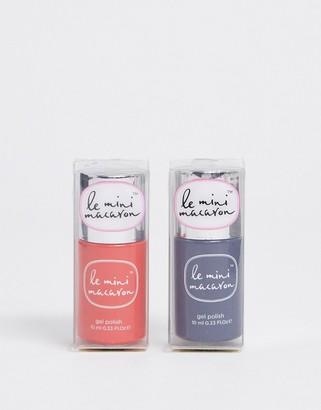 Asos Le Mini Macaron X EXCLUSIVE Gel Nail Polish Duo - Blood Orange + Black Sesame SAVE 20%