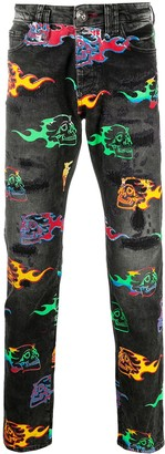Philipp Plein Skull on Fire jeans