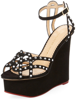 Charlotte Olympia Young At Heart Suede Platform Wedge