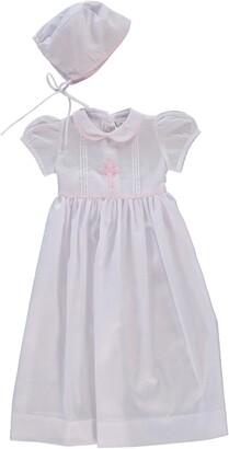 Carriage Boutique Embroidered Christening Gown & Bonnet Set