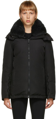 Yves Salomon   Army Yves Salomon - Army Black Down Shearling Technical Jacket
