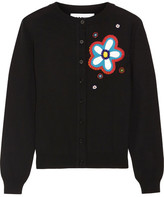 Moschino Embellished Appliquéd Wool Cardigan - Black