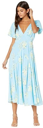 Free People Laura Printed Maxi (Sky Combo) Women's Dress