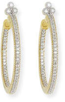 Jude Frances Provence Medium Pavé Diamond Hoop Earrings