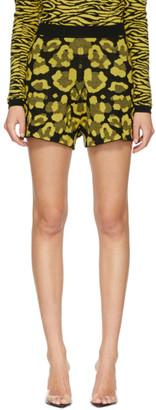 Victor Glemaud Yellow and Black Victoria Merino Shorts