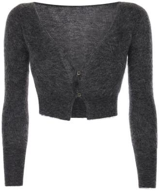 Jacquemus Knit Mohair Blend Crop Cardigan