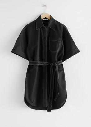 And other stories Topstitched Utility Shirt Dress