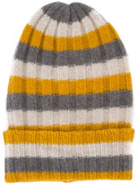 The Elder Statesman cashmere striped beanie