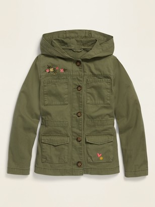 Old Navy Hooded Twill Utility Jacket for Girls