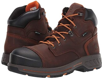 Timberland Helix HD 6 Soft Toe Waterproof (Brown) Men's Shoes