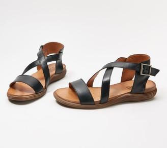 Miz Mooz Leather Cross Strap Sandals - Margarita