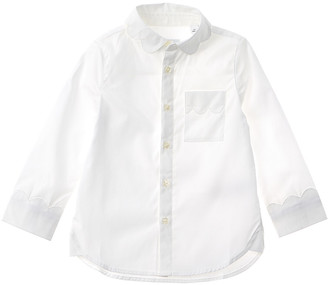 Burberry Scalloped Detail Stretch Woven Shirt
