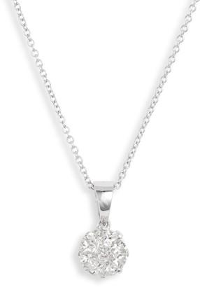 Bony Levy Mika Pave Diamond Circle Pendant Necklace