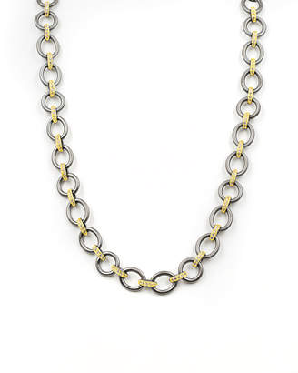 Freida Rothman Signature Two-Tone Heavy Link Necklace