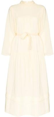 LVIR Tie-Waist Maxi Dress