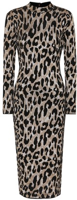 Versace Leopard-printed midi dress