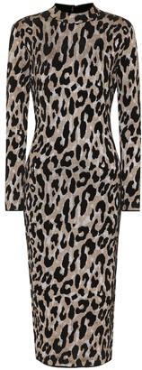 Versace Leopard-printed midi dress