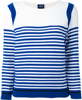 Armani Jeans striped top - women - Cotton/Polyamide/Spandex/Elastane - 38