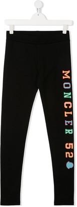 Moncler Enfant TEEN logo-embroidered slim-fit leggings