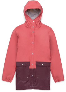 Herschel Mineral Red and Plum Womens Rainwear Jacket - s