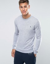 Jack Wills Jumper With Crew Neck In Light Ash