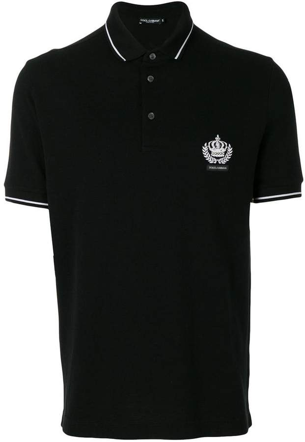Dolce & Gabbana embroidered crown polo shirt