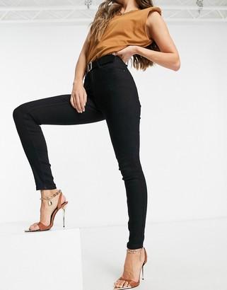 JDY Magic skinny jean in black