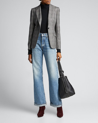 RE/DONE High-Rise Loose Rigid Straight-Leg Jeans