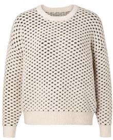 Ya-Ya Structured Two Tone Knitted Round Neckline Sweater - S - Black/White