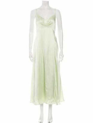 ADEAM V-Neck Long Dress Grey
