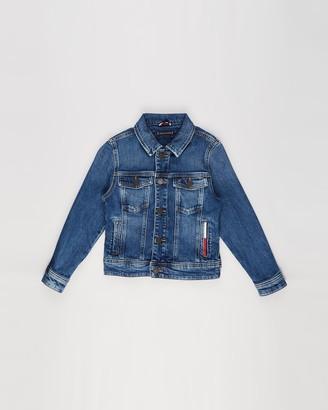 Tommy Hilfiger Boy's Blue Denim jacket - Logo Back Denim Trucker Jacket - Kids-Teens - Size 10 YRS at The Iconic