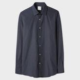 Paul Smith Men's Slim-Fit Navy Polka Dot Cotton Shirt