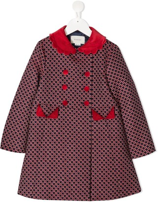 Gucci Kids GG double-breasted coat