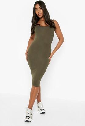 boohoo Basic Square Neck Bodycon Midi Dress