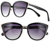 Women's SO® Oversized Cat's-Eye Sunglasses