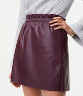 LOFT Faux Leather Shift Skirt