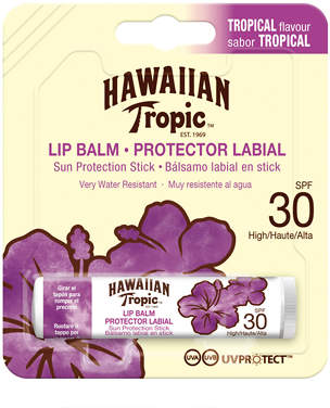 Hawaiian Tropic Lip Balm Sun Protection Stick SPF30 Tropical Flavour 4g