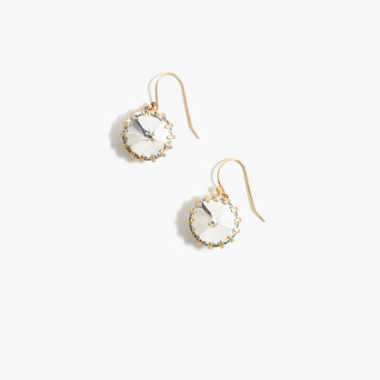 J.Crew Crystal Venus flytrap earrings