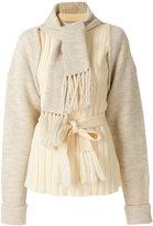 Maison Margiela layered scarf sweater