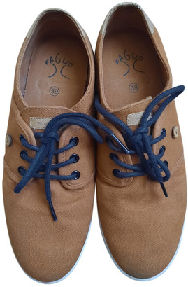 Faguo Brown Cloth Trainers