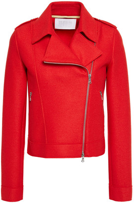 Harris Wharf London Wool-felt Biker Jacket