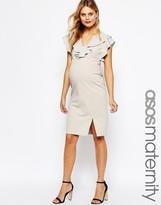 Asos Ruffle Front Pencil Dress