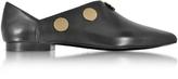 Pierre Hardy Black Leather Penny Mule w/Golden Metal Studs