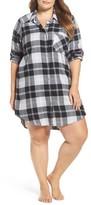 Make + Model Plus Size Women's Plaid Flannel Nightshirt