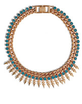 Mawi Pretty In Punk Spike Necklace With Crystals